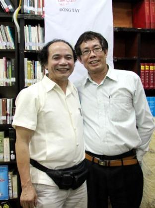 Nguyễn Trọng Tạo và Dương Danh Dũng, 4.2012 - Ảnh Nguyễn Đình Toán
