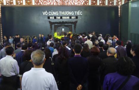 Tang lễ Nhà thơ Quang Huy.